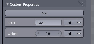 Editting properties in blender